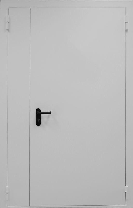 двухстворчатая распашная дверь металлическая противопожарная